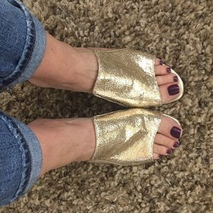 Shoes - Retro gold mules. Size 39 fits like size 8 - 8.5.